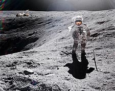 Apollo 16 Charles Duke on the Moon Photo Print for Sale