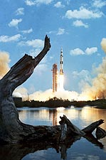 Apollo 16 Saturn V Space Craft Launch Photo Print for Sale
