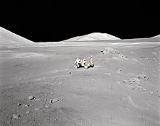 Apollo 17 Lunar Rover at Distance Photo Print for Sale