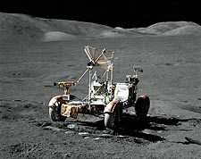 Apollo 17 Lunar Roving Vehicle LRV on Moon Photo Print for Sale