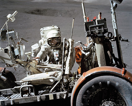 Apollo 17 NASA Astronaut Harrison Schmitt with Lunar Rover Photo Print