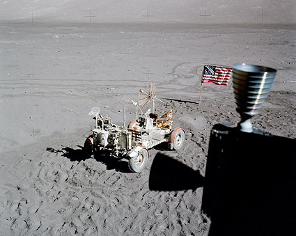 Apollo 17 Rover & American Flag from LM Photo Print
