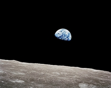 Apollo 8 Earthrise from the Moon Photo Print