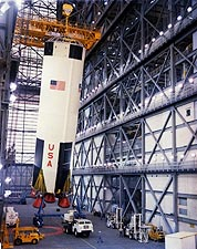 Apollo 8 Saturn V Rocket Construction Photo Print for Sale