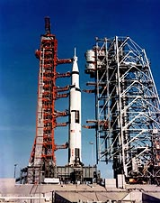 Apollo 8 Saturn V Rocket on Launch Pad Photo Print for Sale