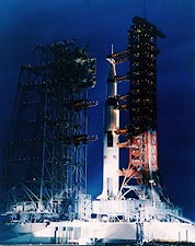 Apollo 9 Rocket on Launch Pad NASA Photo Print for Sale