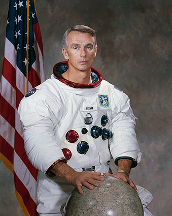Apollo Astronaut Eugene Cernan Portrait WSS Photo Print