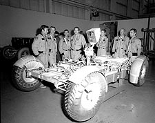 Apollo Astronauts w/ Lunar Rover Vehicle Photo Print for Sale