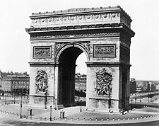Arc de Triomphe Paris, France 1850 Photo Print for Sale