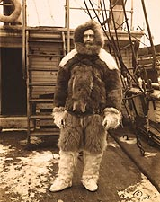 Arctic Explorer Robert E. Peary in Fur Suit 1909 Photo Print for Sale