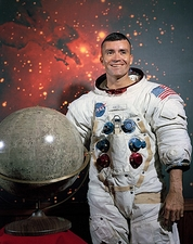 Astronaut Fred Haise in Space Suit NASA Photo Print