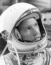 Astronaut Gordon Cooper in Helmet Photo Print for Sale
