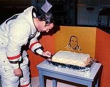 Astronaut James Lovell Birthday Cake Apollo 13 Photo Print for Sale