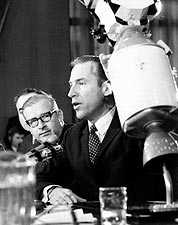Astronaut James Lovell Senate Committee Photo Print for Sale