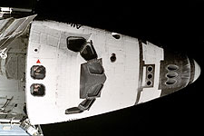Astronauts Look Out Space Shuttle Window Photo Print for Sale