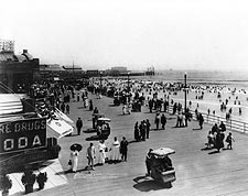 Atlantic City Boardwalk & Beach NJ 1915 Photo Print for Sale