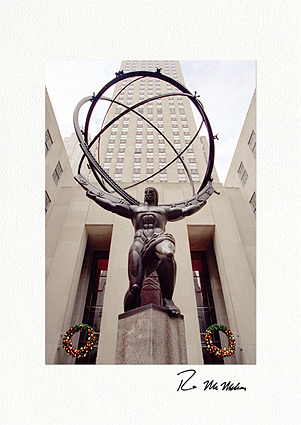 Atlas at Rockefeller Center, New York City Holiday Boxed Christmas Cards