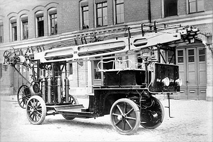 Auto Fire Truck Engines Germany Early 1900s Photo Print