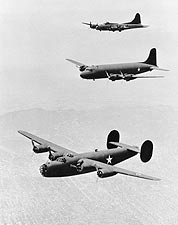 B-17, C-54 & B-24 Bomber WWII Photo Print for Sale