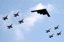 B-2 Stealth Bomber in Exercise Valiant Shield Photo Print for Sale