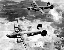B-24 Liberator Aircraft in Flight WWII Photo Print for Sale