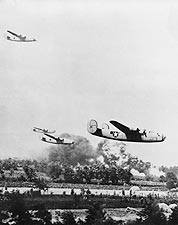 B-24 Liberator Bombers Low Altitude WWII Photo Print for Sale