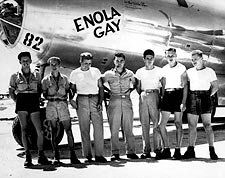B-29 Enola Gay Crew w/ Paul Tibbets WWII Photo Print for Sale