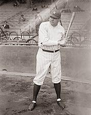 Babe Ruth w/ Bat New York Yankees Photo Print for Sale