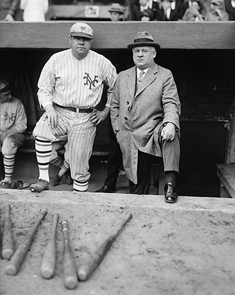 Babe Ruth w/ John McGraw Baseball Photo Print