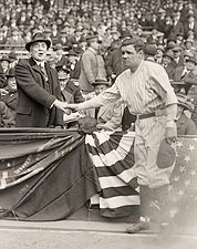 Babe Ruth w/ President Warren Harding Photo Print for Sale