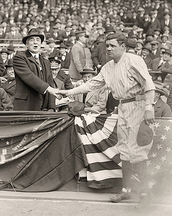 Babe Ruth w/ President Warren Harding Photo Print