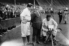 Babe Ruth with other Yankees Players Photo Print for Sale
