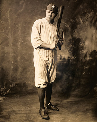 Babe Ruth Yankees Baseball Uniform Portrait Photo Print