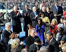 Barack Obama Arrival at Inauguration in 2009 Photo Print for Sale