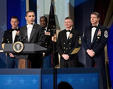 Barack Obama at Commander in Chief's Inaugural Ball Photo Print for Sale