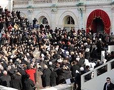 Barack Obama Arrival at Capitol for Inauguration  Photo Print for Sale