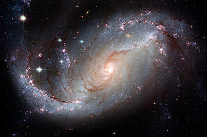 Barred Spiral Galaxy Hubble Space Telescope Photo Print