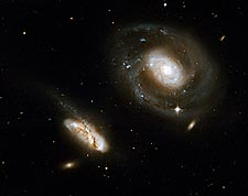 Barred Spiral Interacting Galaxies Hubble Space Telescope Photo Print for Sale