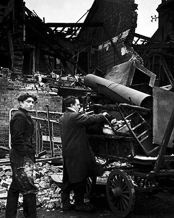 Battersea Incident Damage England WWII 1945 Photo Print