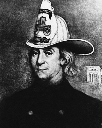 Benjamin Franklin Firefighter Drawing Photo Print
