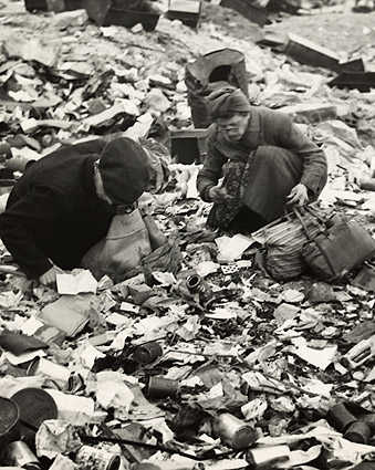 Berlin Residents Searching for Food Post WWII Photo Print
