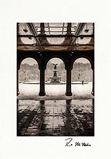 Bethesda Fountain Snow Day Personalized Central Park NYC Christmas Cards