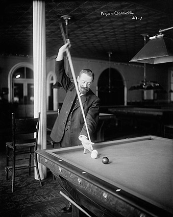 Billiard Player Firmin Cassignol Playing Pool Photo Print