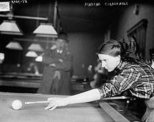 Billiards Champion Martha Clearwater 1910 Photo Print for Sale