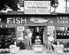 Birmingham Roadside Stand Walker Evans Photo Print