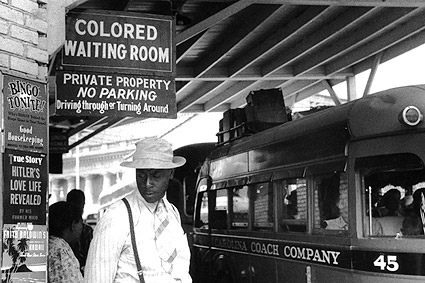 Black Segregation Bus Stop Civil Rights Photo Print