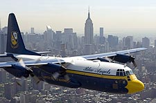 Blue Angels 'Fat Albert' C-130 Over New York City Photo Print for Sale