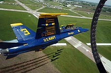 Blue Angels Jet No. 3 Over Runway Photo Print for Sale