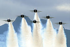 Blue Angels Performing Delta Formation Photo Print for Sale
