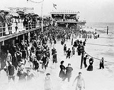 Boardwalk Asbury Park New Jersey Early 1900s Photo Print for Sale